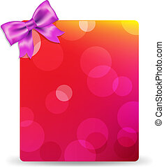 Blank Gift Tag With Pink Bow