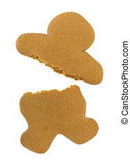 Blank gingerbread man cookie broken