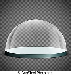 Blank glass dome
