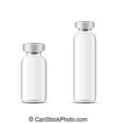 Blank glass medical bottle