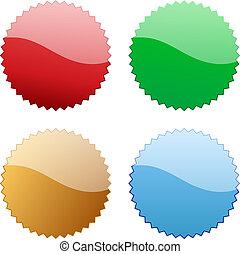 Blank glossy icon tag