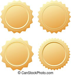 Blank gold business seal