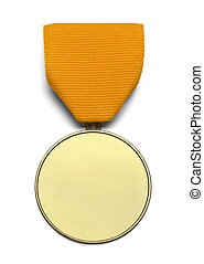 Blank Gold Ribbon Medal