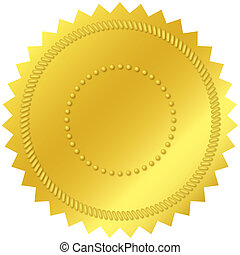 Blank Gold Seal - Blank gold seal, with embossed decorations