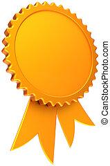 Blank golden award ribbon template
