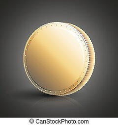 Blank golden coin