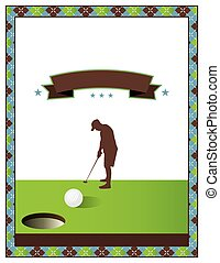 Blank Golf Tournament Flyer Template