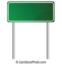 blank, grønne, vej underskriv