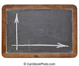 blank graph on blackboard