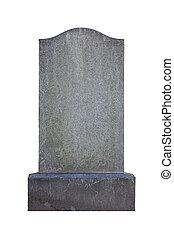 Blank gravestone, ready for inscription