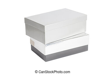 Blank Gray and Silver box containers
