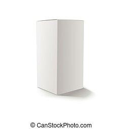 Blank gray box isolated