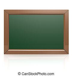 Blank green blackboard