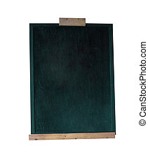 Blank green blackboard with clipping path