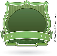 Blank green food or product label