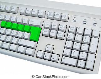blank green keyboard
