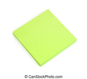 Blank Green Post-it Notes