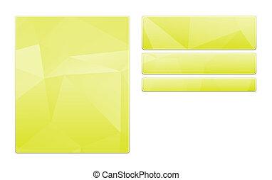 blank green template