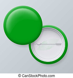 Blank Green Vector Badges