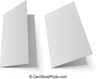 Blank greeting card vector template