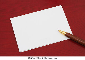 Blank greeting card stock photo images 103777 blank greeting card blank greeting card white greeting card that is blank for m4hsunfo