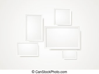 Blank grey frame abstract background