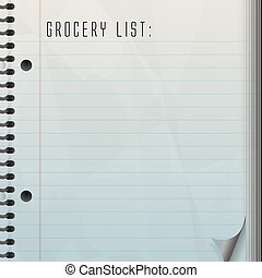 grocery list blank