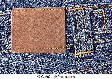 Blank grunge leather label