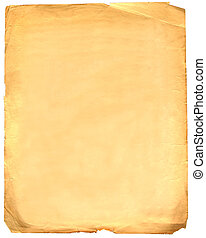 blank grunge paper - blank old grunge paper isolated on...