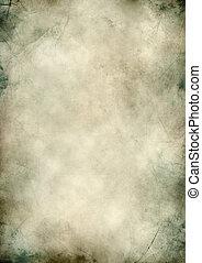 Blank grunge paper textured scratched background - Vertical...