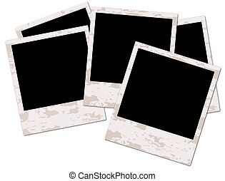 Blank grunge photo frame ready to be populated with any ...