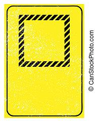 blank grunge warning sign