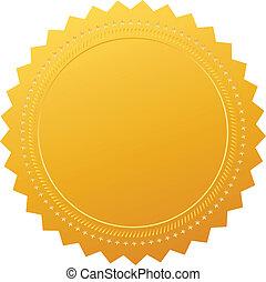 Blank guarantee certificate