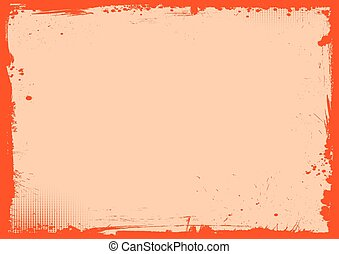 Blank Halloween banner background with grunge border