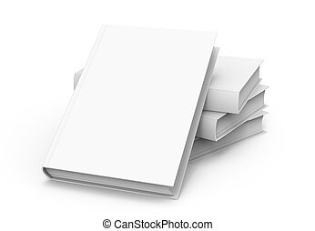 Blank Hard Cover Book Template 3d Rendering Blank Hard Cover Books