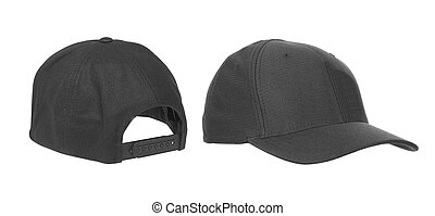 blank hat in black isolated on white background