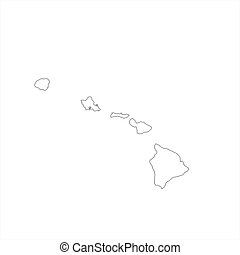 Blank Hawaii Map - Blank Hawaiian regional map in...