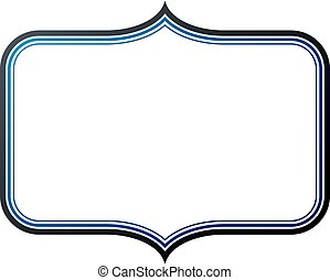 Blank heraldic frame with copy-space, vector vintage emblem.