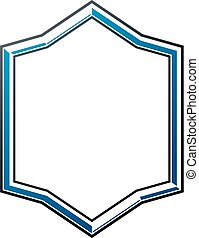 Blank heraldic frame with copy-space, vector vintage protection shield emblem.