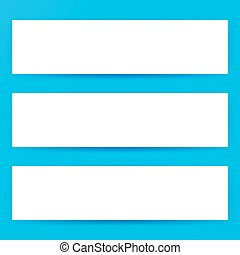 Blank Horizontal Web Banners Mockup