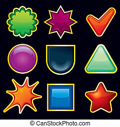 Blank Icons - Blank Shiny Colored Templates for your own...