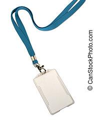 Blank ID card / badge on white background