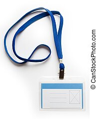 badge - Blank ID card / badge with copy space on a white...