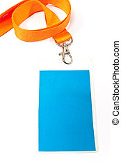 Blank id card tag on white