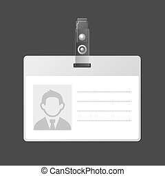 Blank Identification Card Badge ID Template. Vector...