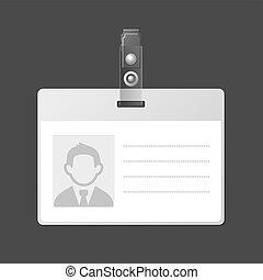 Blank Identification Card Badge ID Template. Vector...