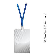 blank identification card illustration design over a white...
