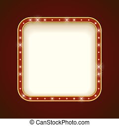 Blank Illuminated Rounded Square Marquee Frame