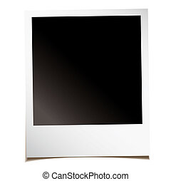 blank instant photo - Single blank instant photograph with...