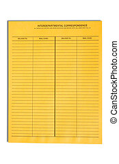 Blank Interdepartmental Correspondence Envelope - A blank ...